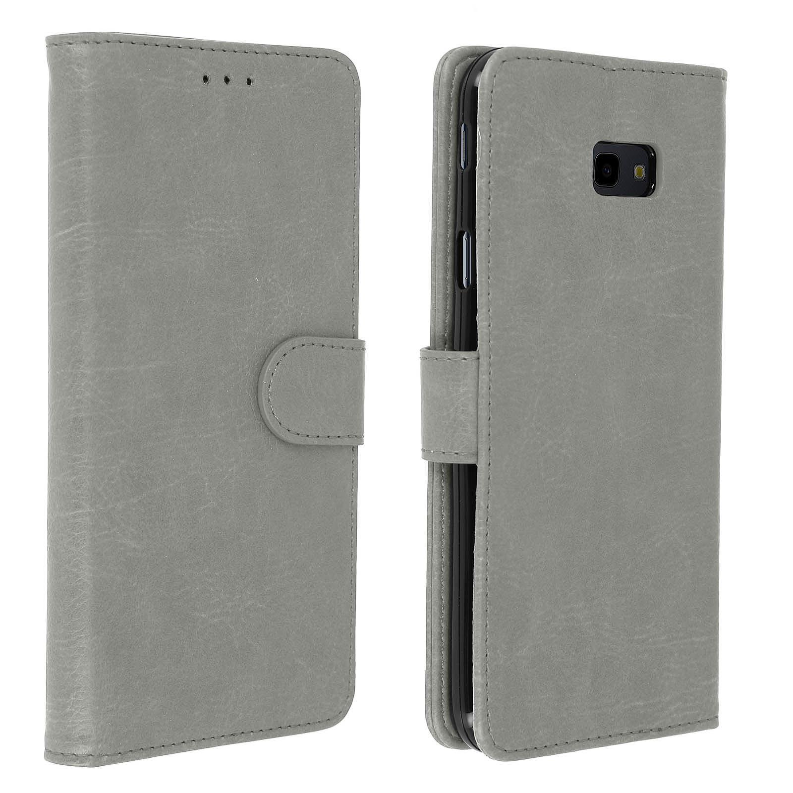 Avizar Etui folio Gris pour Samsung Galaxy J4 Plus