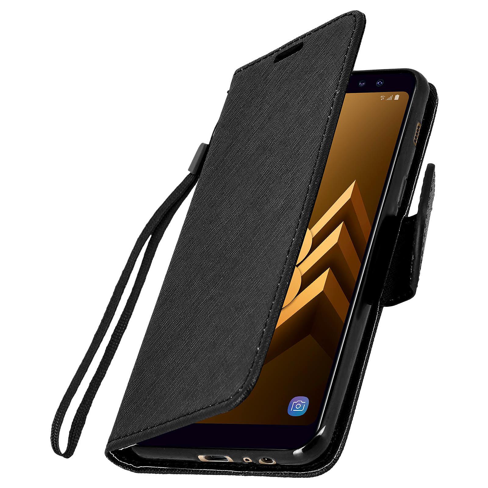 Avizar Etui folio Noir pour Samsung Galaxy A8