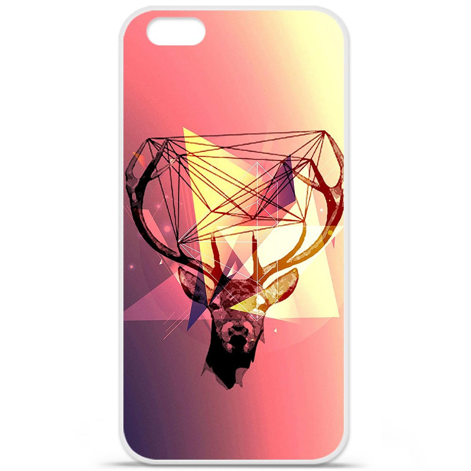 1001 Coques Coque silicone gel Apple IPhone 7 Plus motif Cerf Hipster