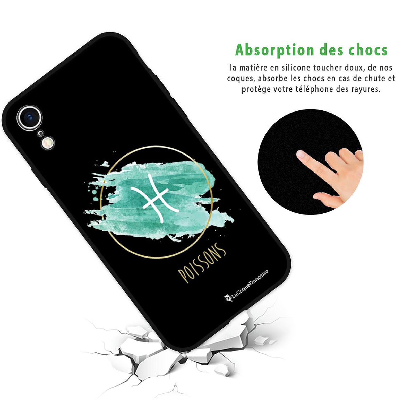 LA COQUE FRANCAISE Coque iPhone Xr Silicone Liquide Douce noir Poissons