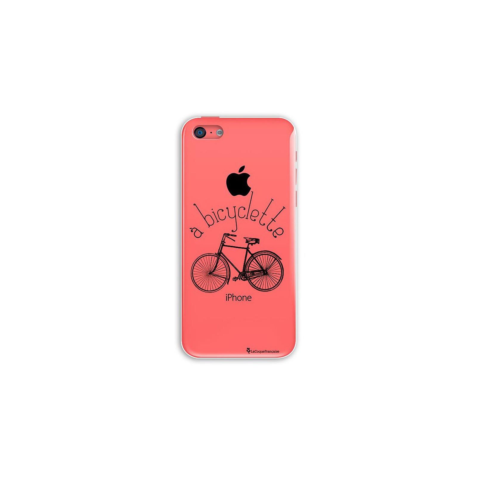 LA COQUE FRANCAISE Coque iPhone 5C rigide transparente Bicyclette Dessin - Coque téléphone LaCoqueFrançaise sur LDLC