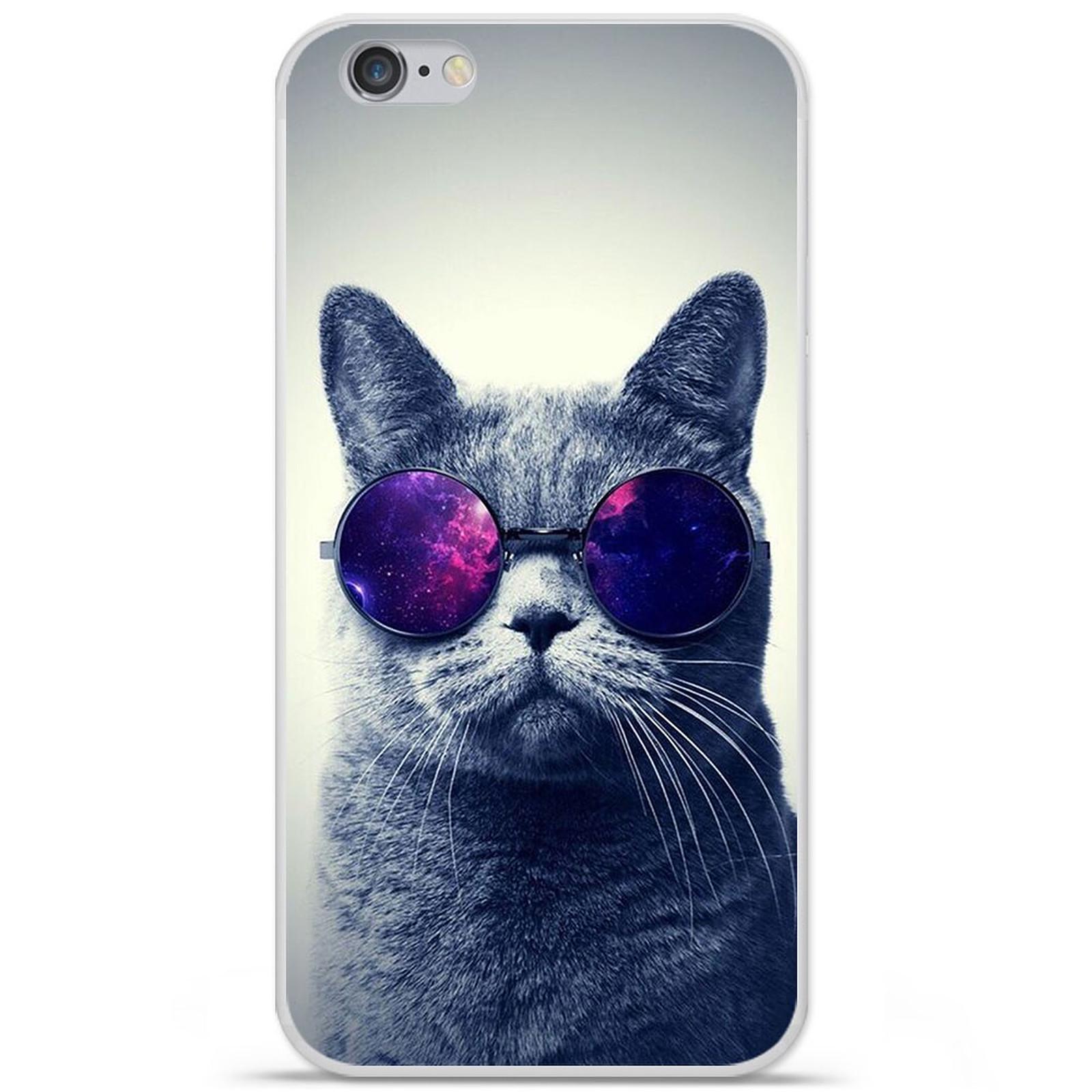 1001 Coques Coque silicone gel Apple IPhone 7 Plus motif Chat à lunette