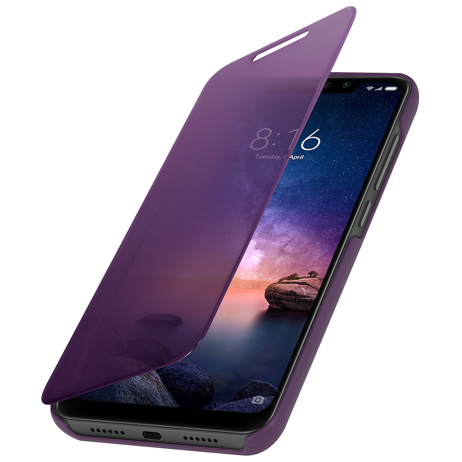 Avizar Etui folio Violet pour Xiaomi Redmi Note 6 Pro