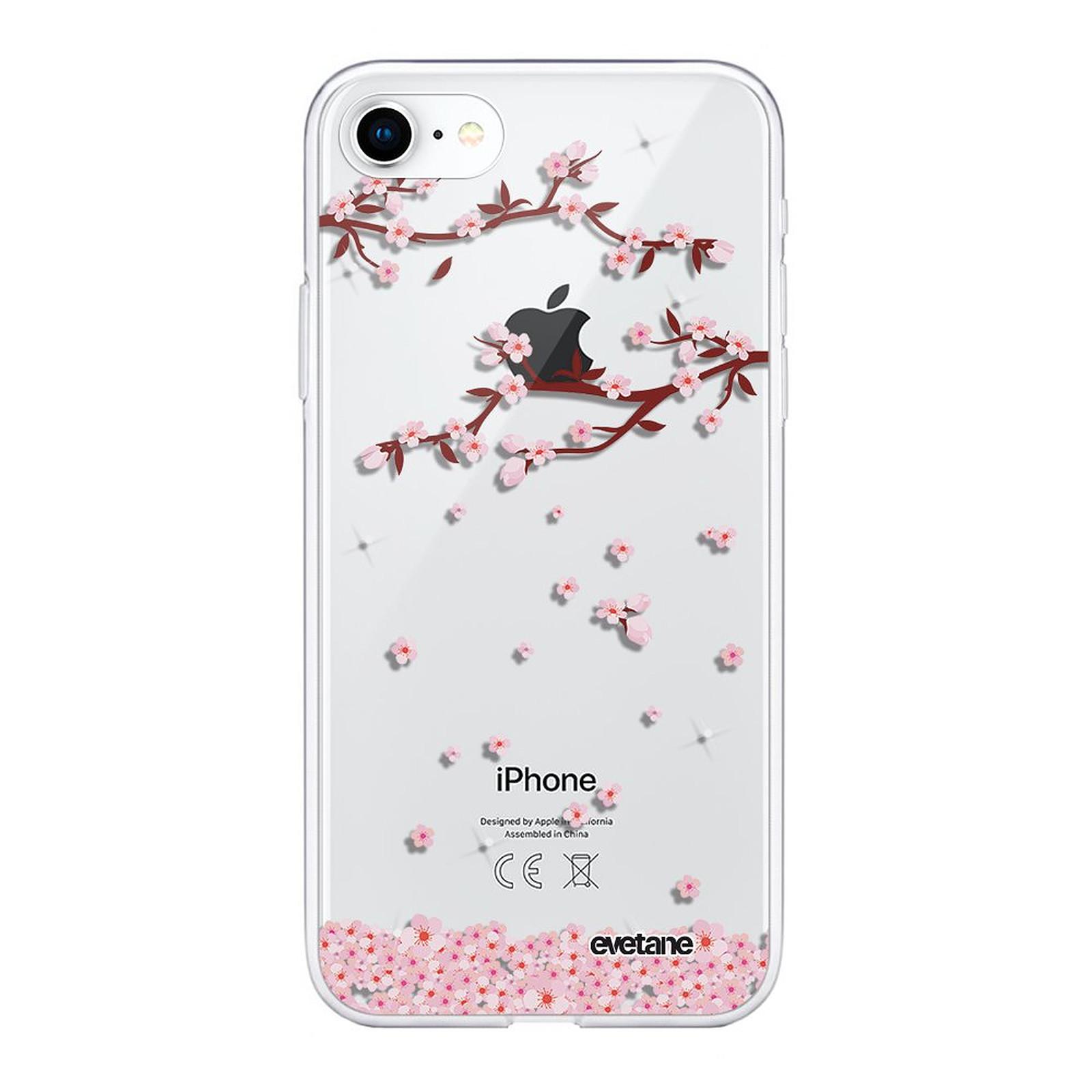 EVETANE Coque iPhone 7/8/ iPhone SE 2020 360 intégrale transparente Chute De Fleurs Tendance - Coque téléphone Evetane sur LDLC