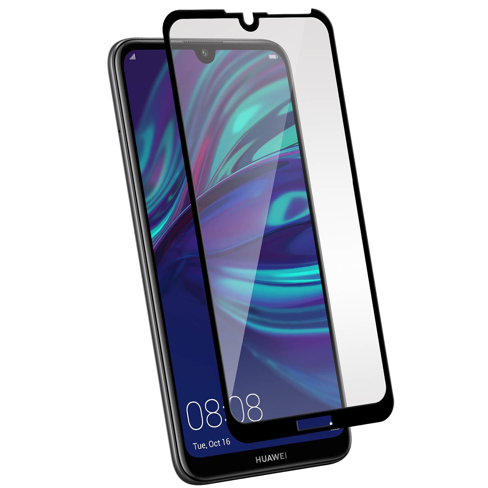 Avizar Film verre trempé Noir pour Huawei Y7 2019