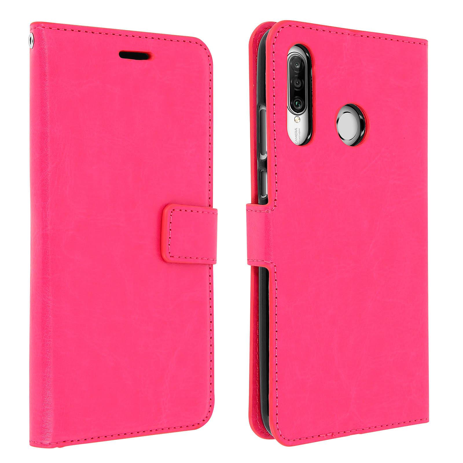 Avizar Etui folio Rose pour Huawei P30 Lite , Honor 20S , Huawei P30 Lite XL