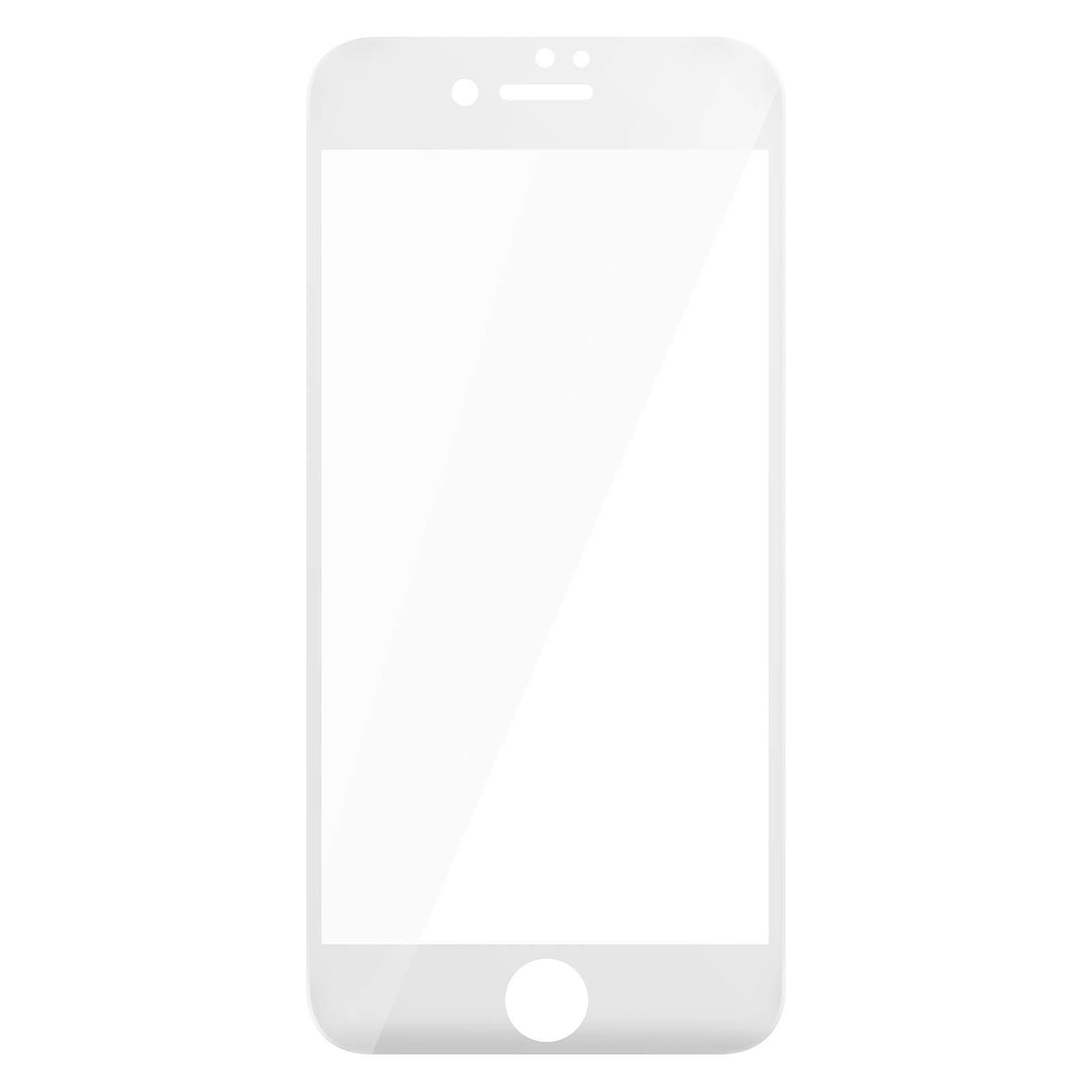 Avizar Film verre trempé Blanc pour Apple iPhone 7 , Apple iPhone 8 , Apple iPhone SE 2020