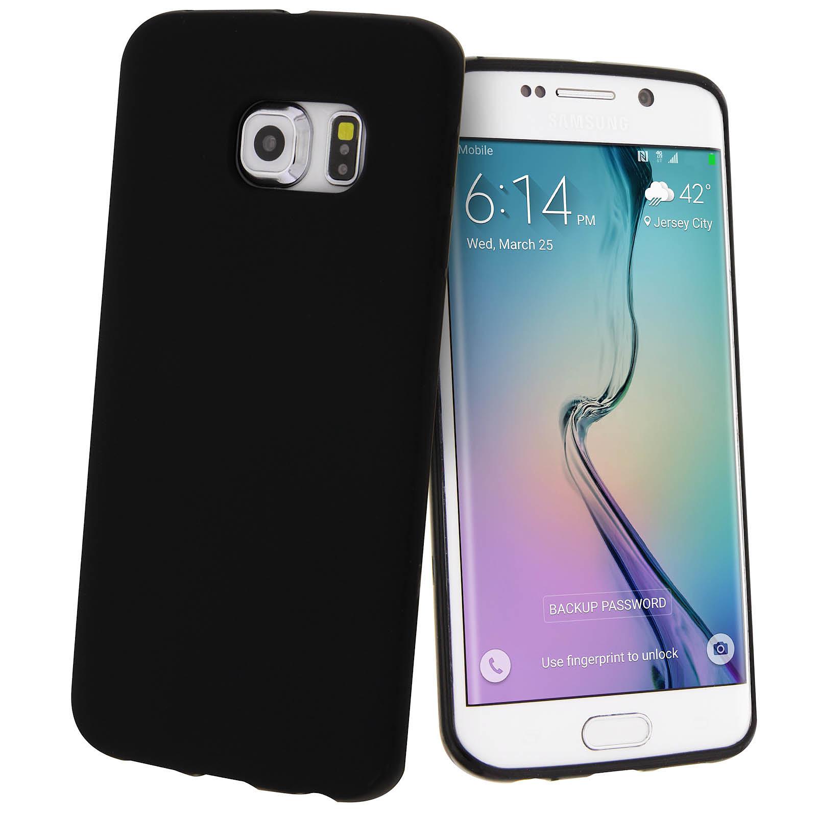 Avizar Coque Noir pour Samsung Galaxy S6 Edge