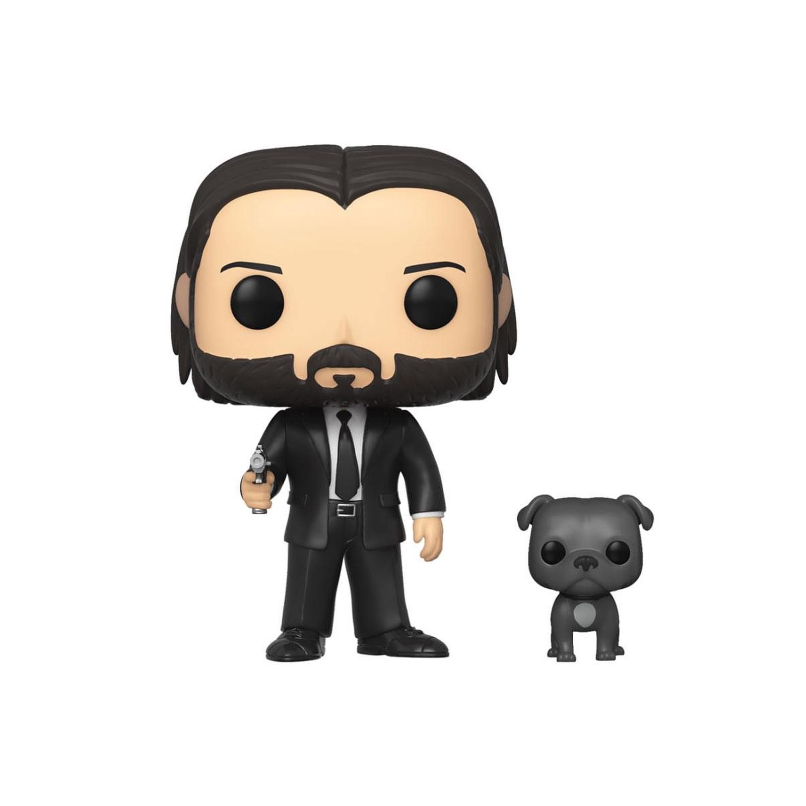 John Wick - Figurine POP! John Wick costume noir avec son chien 9 cm