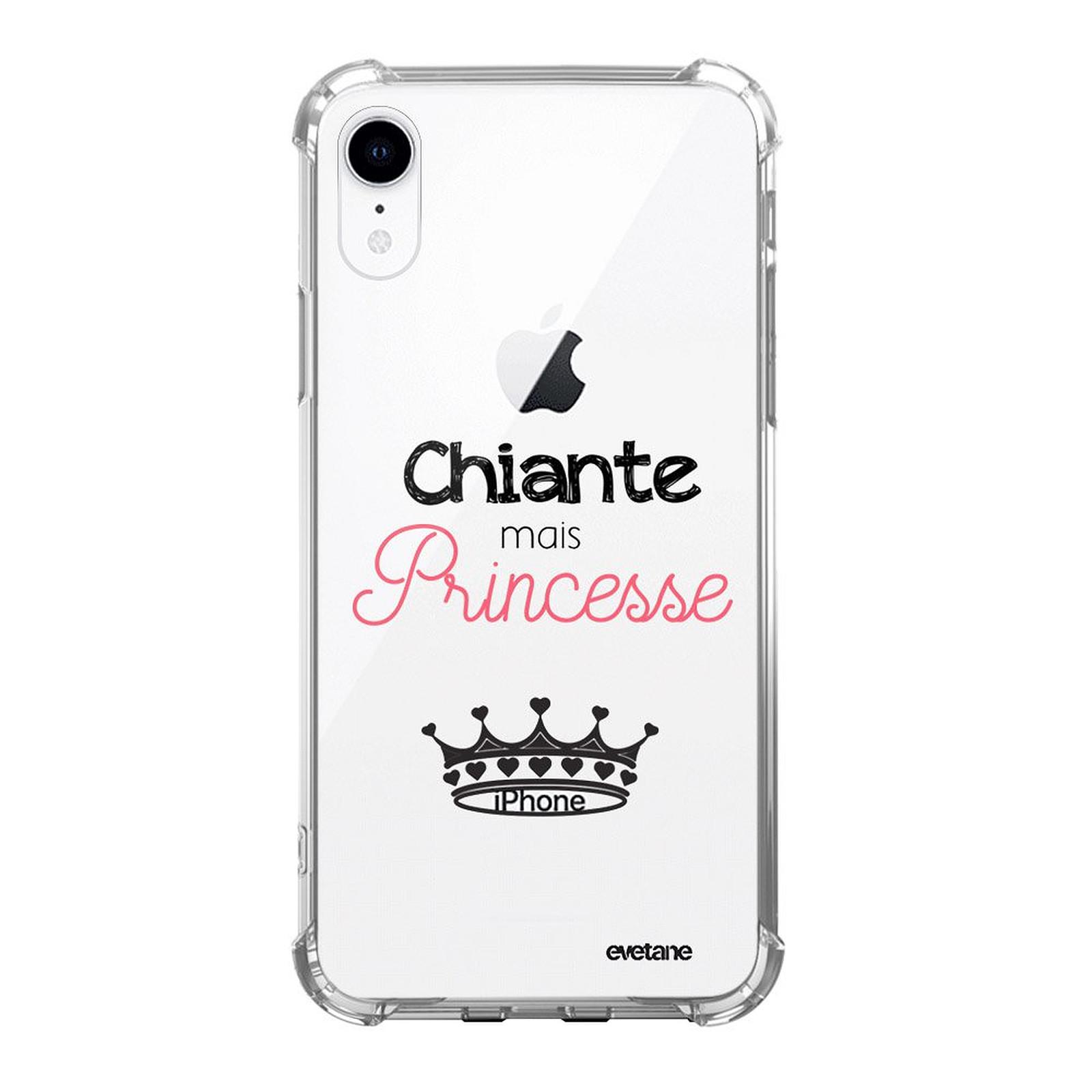 EVETANE Coque iPhone Xr anti-choc souple angles renforcés Chiante mais princesse - Coque téléphone Evetane sur LDLC