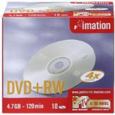 Imation DVD+RW 4.7 Go Certifié 4x (pack de 10)