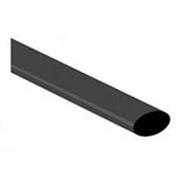 Gaine thermorétractable - diamètre 3.2 mm - longueur 1 mètre (coloris noir)