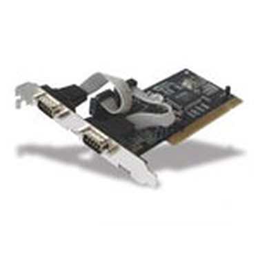 Carte contrôleur PCI avec 2 ports RS-232 (DB-9)