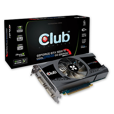 Club 3D GTX 550Ti CoolStream OC Edition 2048 MB Club 3D GTX 550Ti CoolStream OC Edition 2048 MB - 2 Go Dual DVI/Mini HDMI - PCI-Express (NVIDIA GeForce avec CUDA GTX 550 Ti)
