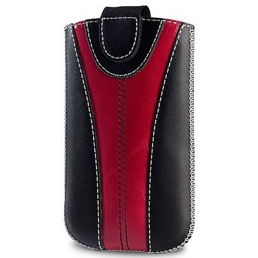 Valenta Pocket Monza 15 Black Red Valenta Pocket Monza 15 Black Red - Etui en cuir bicolore