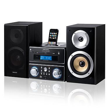 Scott i-WHX 90 Scott i-WHX 90 - Micro chaine CD MP3 USB avec station d'accueil iPod/iPhone