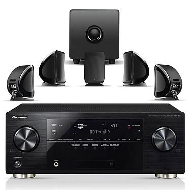 Pioneer VSX-921 Noir + Focal Sib & Cub 2 Jet Black Pioneer VSX-921 Noir + Focal Sib & Cub 2 Jet Black - Ampli-tuner Home Cinéma 3D Ready 7.1 DLNA et AirPlay avec 4 entrées HDMI 1.4 et décodeurs HD + Pack d'enceintes 5.1