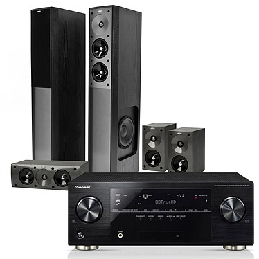 Pioneer VSX-921 Noir + Jamo S 606 HCS 3 Black Gloss Pioneer VSX-921 Noir + Jamo S 606 HCS 3 Black Gloss - Ampli-tuner Home Cinéma 3D Ready 7.1 DLNA et AirPlay avec 4 entrées HDMI 1.4 et décodeurs HD + Pack d'enceintes 5.0