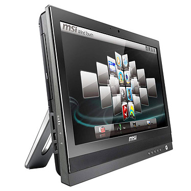 "MSI Wind Top AP2000-017 MSI Wind Top AP2000-017 - Intel Pentium P6200 2 Go 320 Go Graveur DVD LCD 20"" Tactile Wi-Fi N Webcam Windows 7 Premium 64 bits (coloris noir)"
