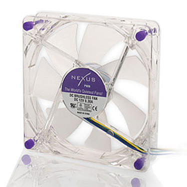 Nexus 80MM PWM Real Silent Case Fan Nexus 80MM PWM Real Silent Case Fan - Ventilateur de boîtier 8 cm Transparent