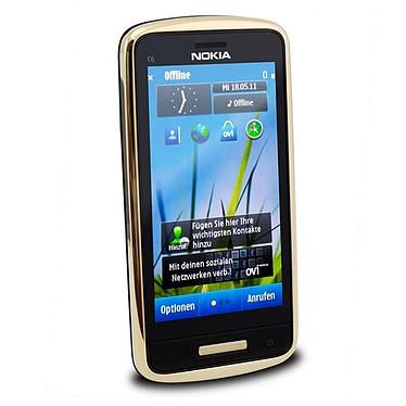 "Nokia C6-01 Or Smartphone 3G+ avec écran OLED tactile 3.2"""