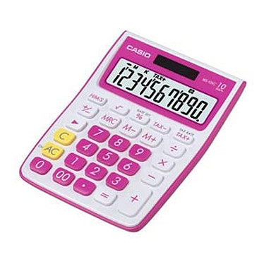 Casio MS-10VC Rose - Calculatrice de bureau