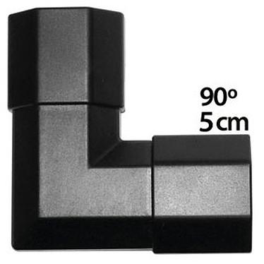 Angle pour goulotte cache-câble (5 cm) - (coloris noir) Angle pour goulotte cache-câble (5 cm) - (coloris noir)