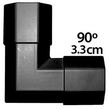 Angle pour goulotte cache-câble (3.3 cm) - (coloris noir) Angle pour goulotte cache-câble (3.3 cm) - (coloris noir)