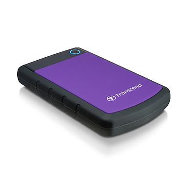 """Transcend StoreJet 25H3P 1 To (USB 3.0) Disque dur externe 2""""1/2 - Noir/Violet (USB 3.0)"""