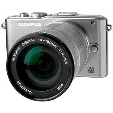 "Olympus PEN E-PL3 + Objectif M.ZUIKO DIGITAL ED 14-150mm 1:4.0-5.6 Argent Appareil photo 4/3 hybride 12.3 MP - Ecran 3"" - Vidéo HD"