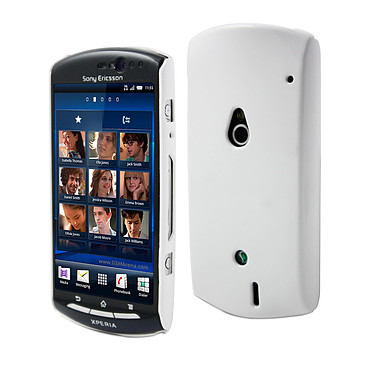 Muvit Coque arrière glossy pour Sony Ericsson Xperia Kyno Blanc