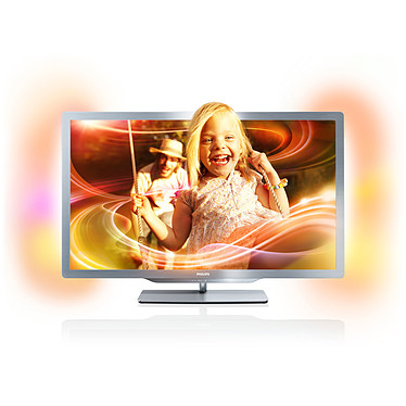 "Philips 42PFL7606H Téléviseur LED 3D Full HD 42"" (107 cm) 16/9 - 1920 x 1080 pixels - TNT & Câble HD - 400 Hz - Cinema 3D - DLNA - HDTV 1080p"