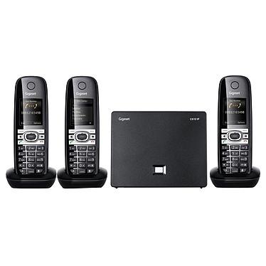 Gigaset C610IP Trio Téléphone sans fil DECT avec 2 combinés supplémentaires (Version Française)
