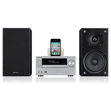 Pioneer X-HM70 Argent Micro chaine CD MP3 USB DLNA avec station d'accueil iPod/iPhone/iPad