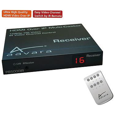 Aavara PB5000IR-R Récepteur HDMI sur câble ethernet avec contrôle télécommande infrarouge