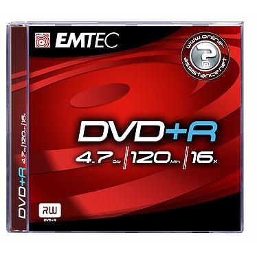 EMTEC DVD+R 4.7 Go certifié 4x (pack de 5, boîtier jewel)