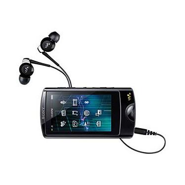 """Sony NWZ-A864 Noir Lecteur MP3 vidéo 8 Go Ecran Tactile 2.8"""" FM"""