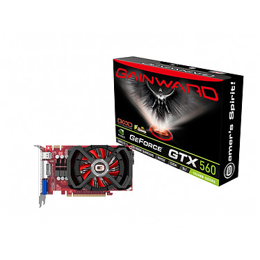 Gainward GeForce GTX 560 1024 MB 1024 Mo Dual DVI/HDMI - PCI Express (NVIDIA GeForce avec CUDA GTX 560)