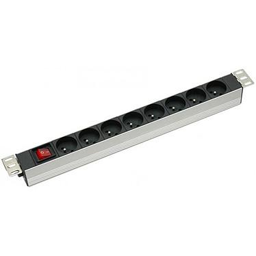 Multiprise rackable 19'' avec interrupteur (8 prises CEE 7/5)