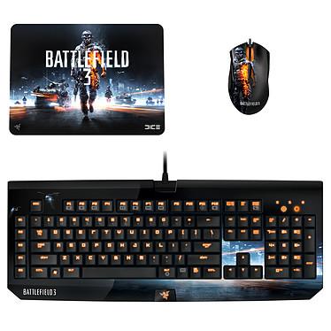 Razer Battlefield 3 Gaming Pack Clavier mécanique + souris laser + tapis de souris pour gamer
