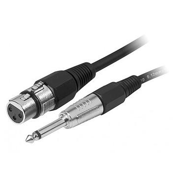 Câble XLR 3P femelle / Jack mono 6.35 mm mâle (6 m)