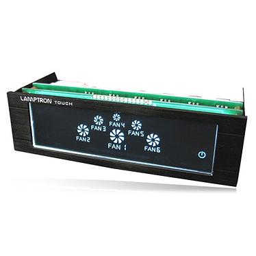 Lamptron Fan Controller Touch Noir Rhéobus à écran tactile 6 canaux