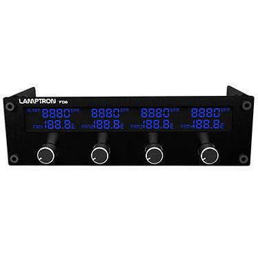 Lamptron Fan Controller FC6 Noir Rhéobus 4 canaux avec écran LCD (7 coloris)