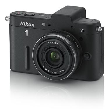 "Nikon 1 V1 Noir + Objectif 1 NIKKOR 10 mm f/2.8 Appareil photo hybride 10.1 MP - Ecran 3"" - Vidéo HD"