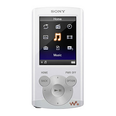 "Sony NWZ-E363 Blanc Lecteur MP3 vidéo 4 Go Ecran 2"" FM"