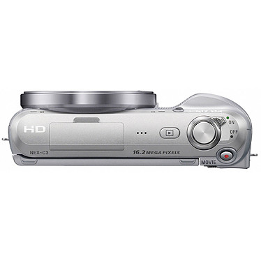 Sony NEX-C3 Argent + Objectif 18-55 mm pas cher