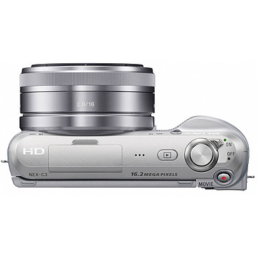 Acheter Sony NEX-C3 Argent + Objectif 18-55 mm
