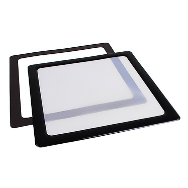 Filtre à poussière magnétique carré 200 mm (cadre noir, filtre blanc)
