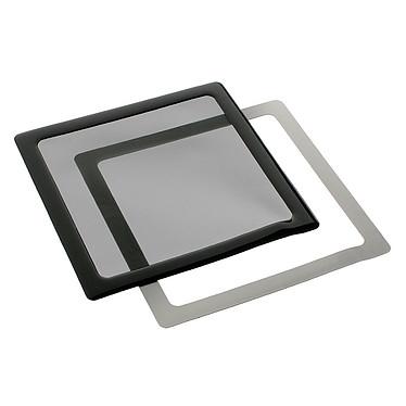 Filtre à poussière magnétique carré 200 mm (cadre noir, filtre noir)