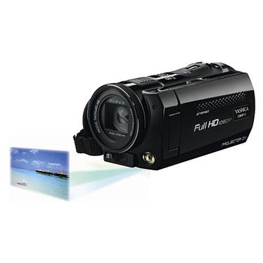 Yashica CMHP12 Noir  Caméscope Full HD Carte mémoire avec pico projecteur intégré